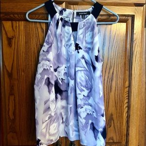 Tops - Tank blouse in eggplant, lavender and cream.
